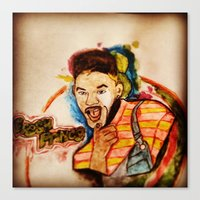 fresh prince Canvas Prints featuring THE FRESH PRINCE 1.0 by hssingh7
