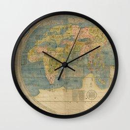 Matteo Ricci - Kunyu Wanguo Quantu / A Map of the Myriad Countries of the World - Eurasia (1602) Wall Clock