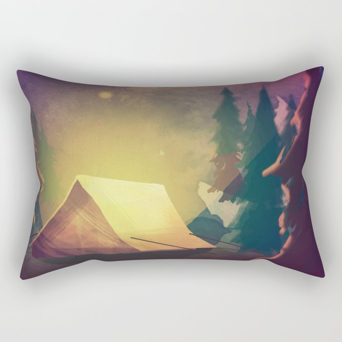 Night in th forest Rectangular Pillow