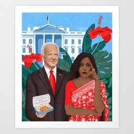Uncle Joe & Kamala Harris Art Print