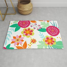 Floral Prints, Cute, Colorful Prints Rug