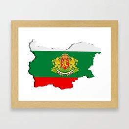 Bulgarian map Framed Art Print