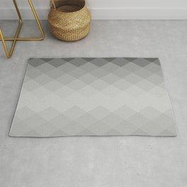 Black and white rhombs pattern Rug