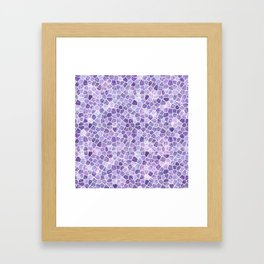 Cobbled Patchwork Terrazo Pattern Framed Art Print