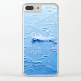White feather on ice Clear iPhone Case