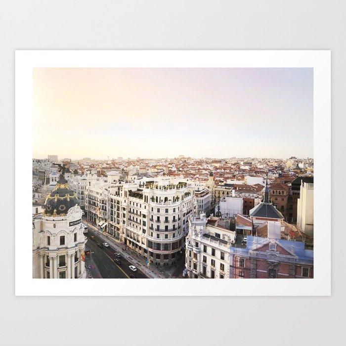 Madrid dusk Art Print