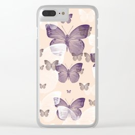 Butterfly emotions Clear iPhone Case