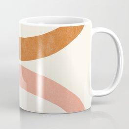Terracotta Mid Century Abstract Rainbow Arches Coffee Mug