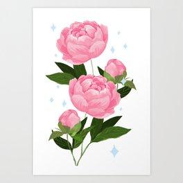 pretty peonies Art Print