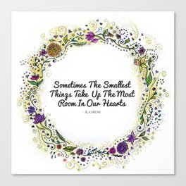Smallest things flower wreath Canvas Print
