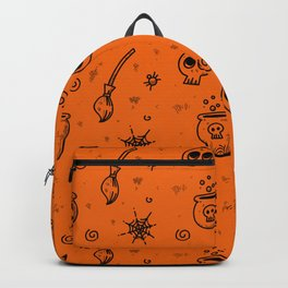 Halloween symbols seamless pattern Backpack