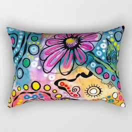 """Tie-Dye Wonderland"" Rectangular Pillow"