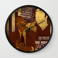 seinfeld Wall Clocks featuring For Seinfeld Fans pt.2 by Alain Cheung