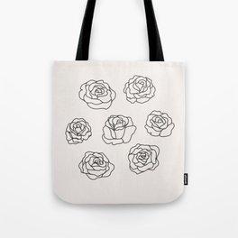 7 of Roses Tote Bag