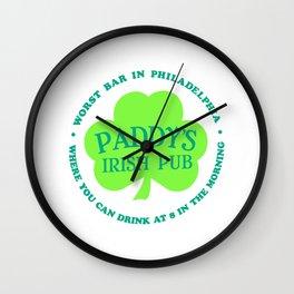 PADDY'S PUB Wall Clock