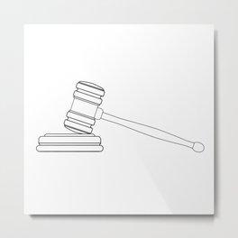 Judges Gravel Line Drawing Metal Print