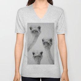 Ostriches Unisex V-Neck