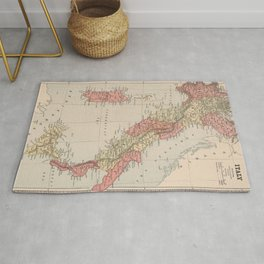 Vintage Map of Italy (1883) Rug