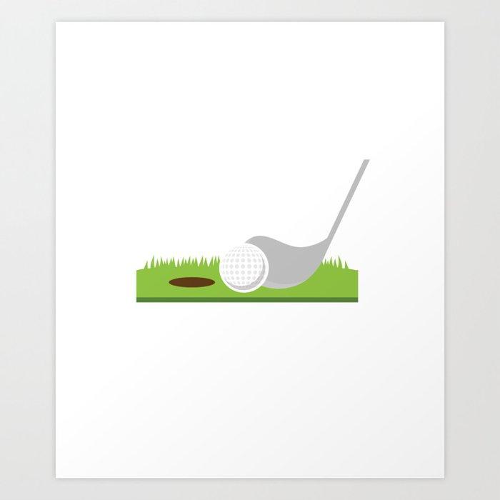 Funny Golfer Puns I'd Tap That Adult Joke Golf Golfing Art Print by tomgiant