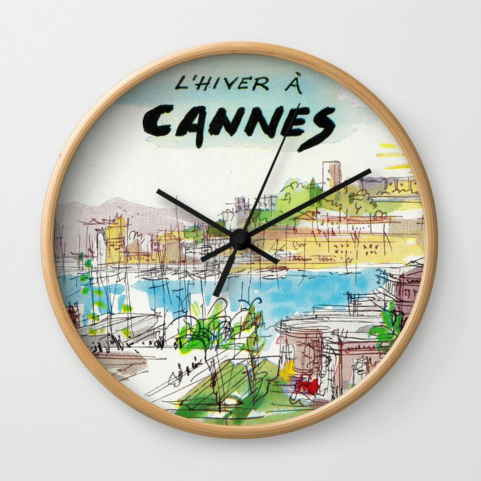 Winter In Cannes Wall Clock