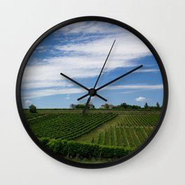 wine and its country Wall Clock
