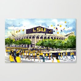 LSU Game Day Canvas Print