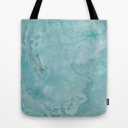 Turquoise Sea Marble Tote Bag