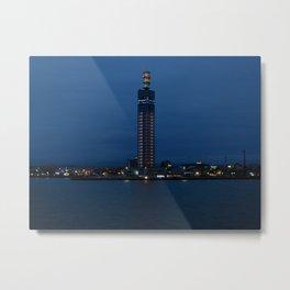 Akita Port Tower Selion Metal Print