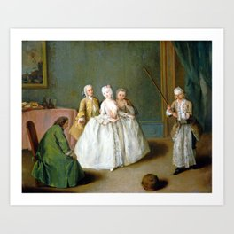 Pietro Longhi The Game of the Cooking Pot Art Print