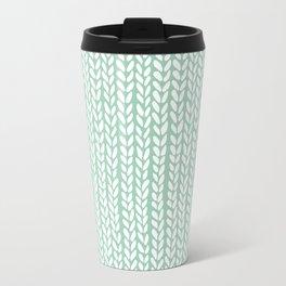 Knit Wave Mint Travel Mug