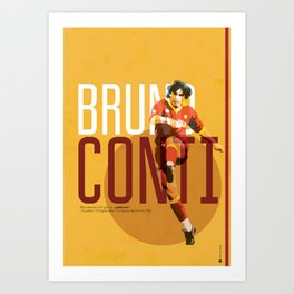Bruno Conti AS Roma / Serie A Superstar Football Player Art Print