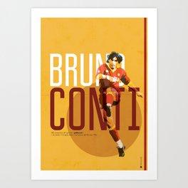 Bruno Conti AS Roma / Serie A Superstar Football Player Art Print
