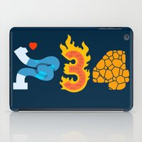 numbers iPad Cases featuring Fantastic Numbers by Carlos Rocafort