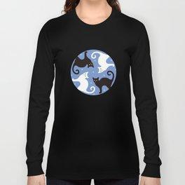 Cats Blue Long Sleeve T-shirt