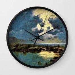 Moonlit Marsh - Digital Remastered Edition Wall Clock