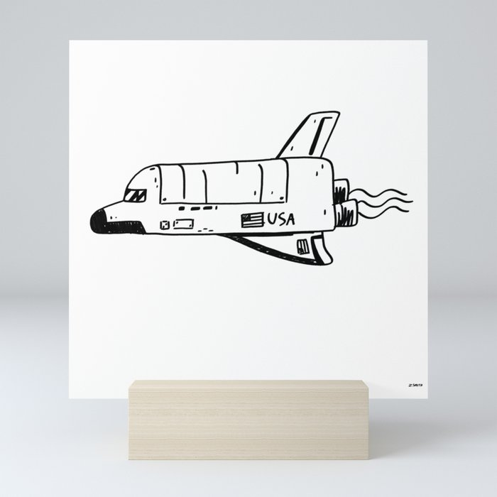 SPACE SHUTTLE Mini Art Print