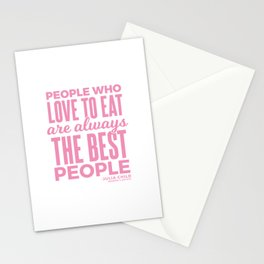 The Best People (Pink) Stationery Cards
