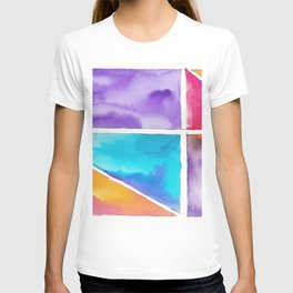 180811 Watercolor Block Swatches 2| Colorful Abstract |Geometrical Art T-shirt