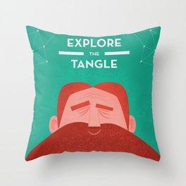 IOTA - Explore the Tangle II Throw Pillow