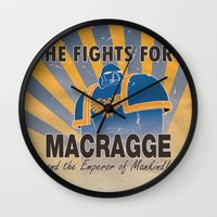 propaganda Wall Clocks featuring Ultramarines Propaganda by HenkusFilijokus
