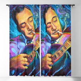 Gypsy Jazz Guitarist Django Reinhardt by Robert Phelps Blackout Curtain