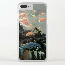 aquaglitch Clear iPhone Case
