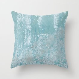 Galvanized Vintage Metal Blue Throw Pillow