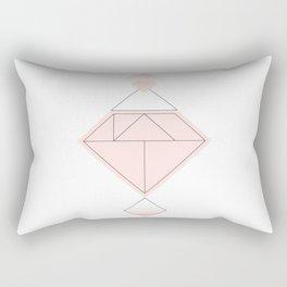 Tangram Diamond Linework Pink Rectangular Pillow