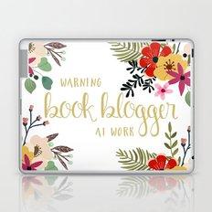 Warning Book Blogger At Work Laptop & iPad Skin