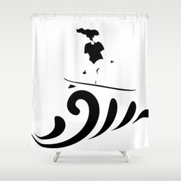 Surf up (: Shower Curtain