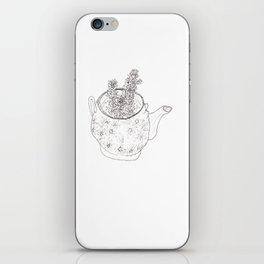 Succulents in teapot iPhone Skin
