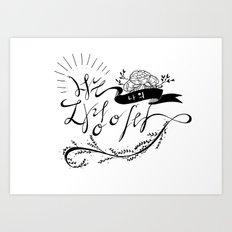 You're my pride (Korean Calligraphy) Art Print