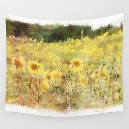 Field of Sunflowers Wall Tapestry