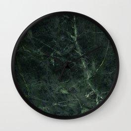 Dark Green Marble Texture Stone Wall Clock